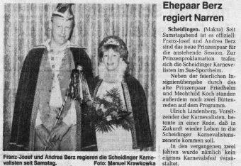 Karneval 1995 Pressebericht