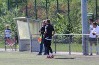 Nils Ingwersen bei seinem Trainerdebüt