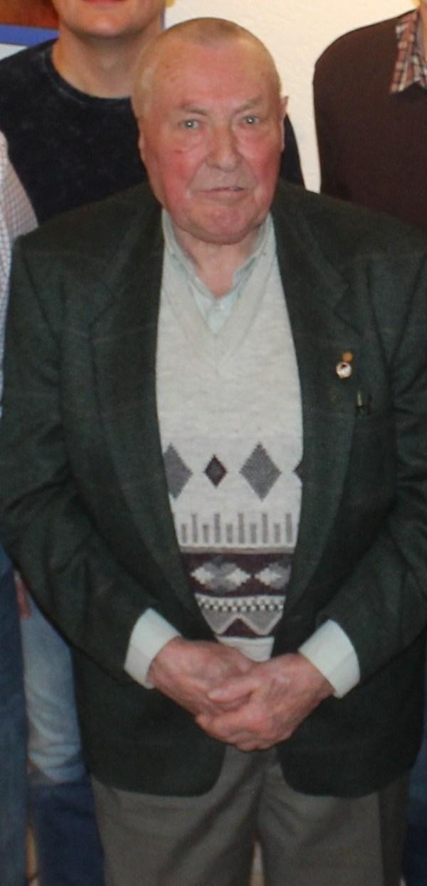 Friedel Westerhoff bei der Ehrung mit der goldenen Ehrennadel im Jahr 2018