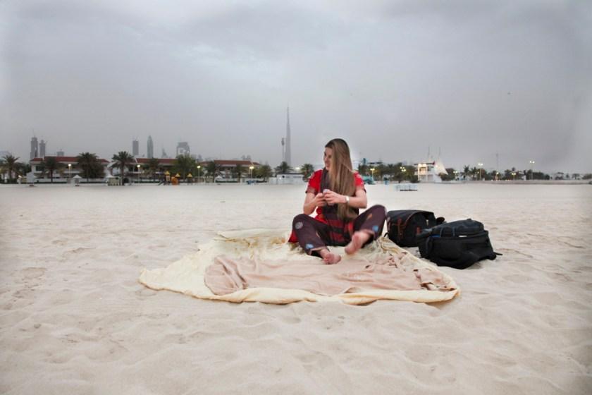 Dubai Strand fotograf Reiseblogger reise travel photographer blogger overnight stop over Zwischenstop airport flughafen
