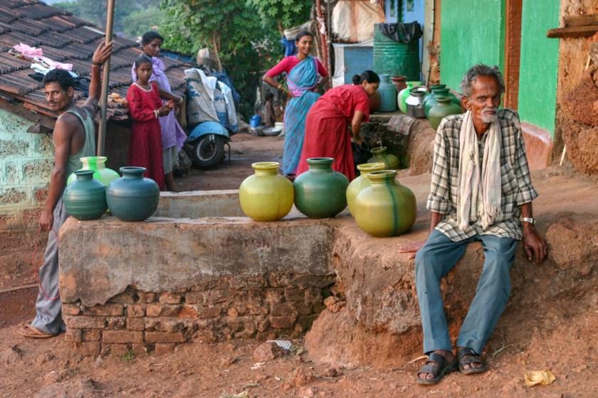 Indien Dorf Goa Laendlich Menschen
