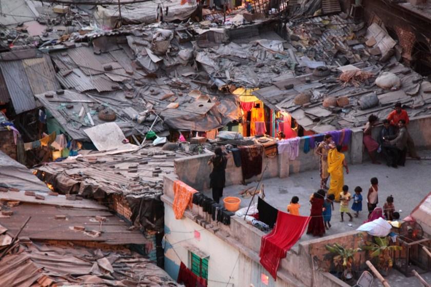 indien kolkata kalkutta nacht slum