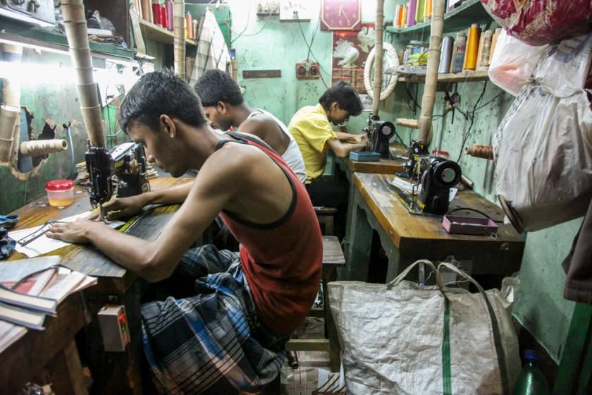 kalkutta näher fabrik nähen fotograf indien