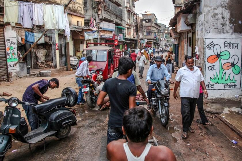leben verkehr menschen kalkutta indien