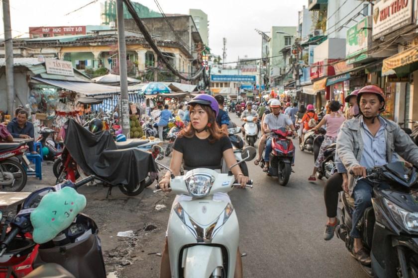Saigon Ho Chi Minh Vietnam Verkehr