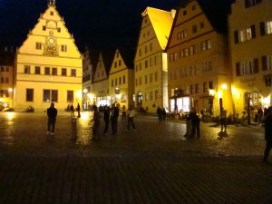 Rothemburg street scene at night