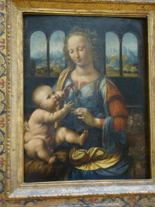 painting of Mary with the Child by DaVinci