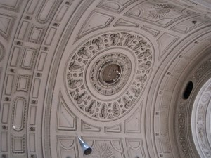 picture of the ceiling at Saint Michael's