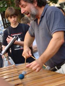 Man playing marimba