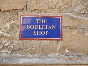 Bodleian Shop sign