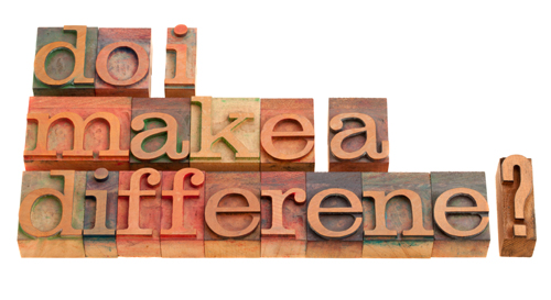 One person can make a difference block formation on Holy in the Daily post