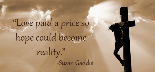 Love paid a price image quote by Susan Gaddis