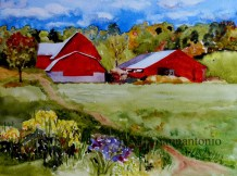 Steadman's Corners Farm watercolor