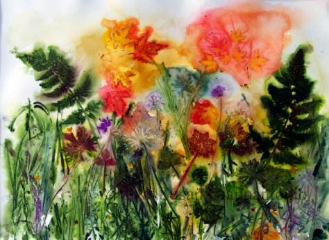 "Mayville Autumn 2014, 22 x 30"" transparent watercolor on paper"