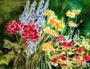 "My Garden Array, 22 x 30"" transparent watercolor on paper"