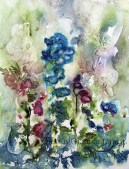 """We Reminisce, 20 x 16"""" transparent botanical watercolor on paper"""