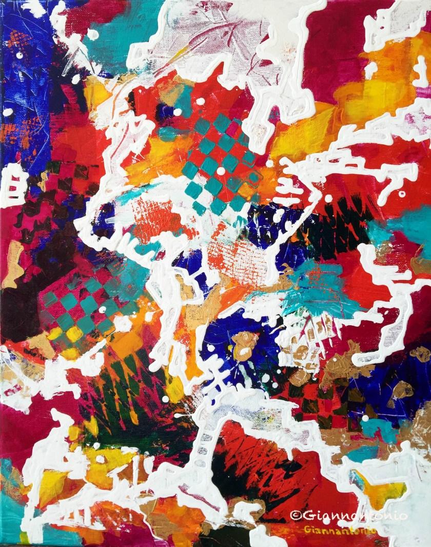 "Klimpt Awry, 20 x 16"" acrylic on gallery wrap canvas"