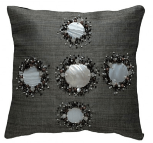 Kabibe Seashell & Beads Decorated Pillow Cover, Kouboo