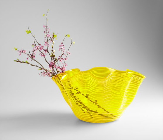 Yellow Scallop Bowl, Cyan Design