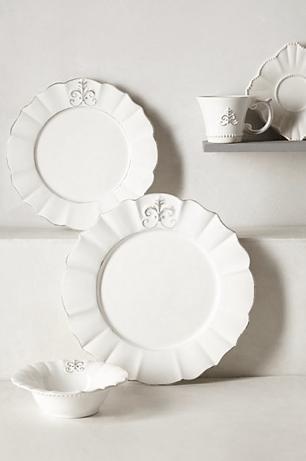 Fleur de Lys Dinner Plate, Anthropologie