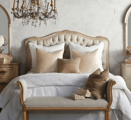 Eloquence Sophia Two-Tone Gold Headboard, The Bella Cottage