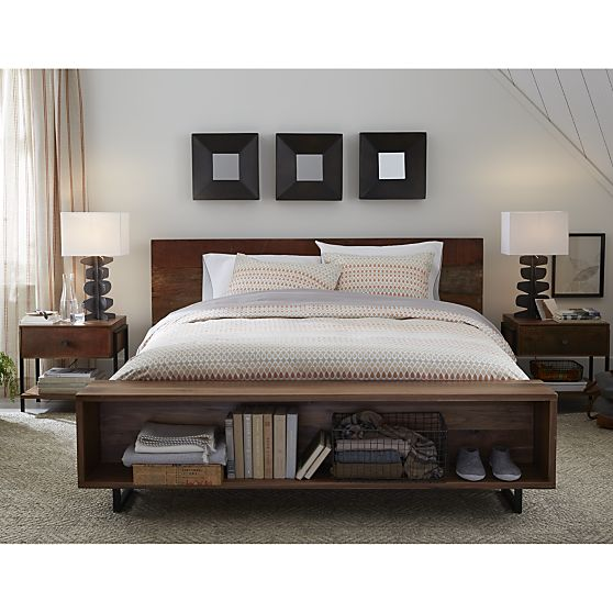 Image Result For Ikea Platform Bed With Attached Nightstands