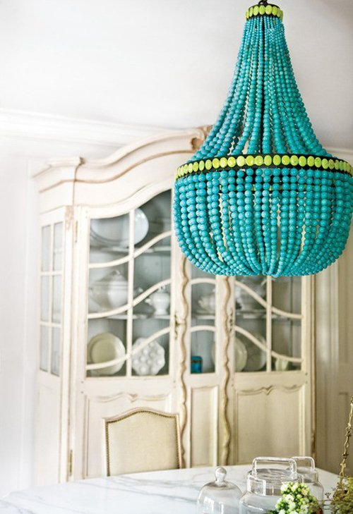 Marjorie Skouras chandelier via Apartment Therapy