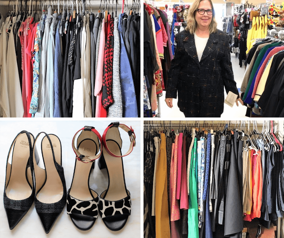 8f10f275edb Two racks of my reorganized and colorized closet. A couple of pairs of shoes  that fit and I love. And a pretty ugly jacket that I had to try on during  the ...