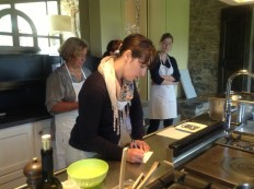 Simona and a cooking class