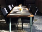 a table in the dining room
