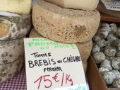 Fermier sheep or goat's milk cheese.