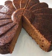 The texture is moist and dense like a pound cake. I used a dark honey in this version so the colour of the crumb is dark. If you use a clear honey like clover or orange blossom you will get a lighter coloured interior.