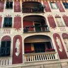 Trompe L'oeil adorns the buildings in Santa.