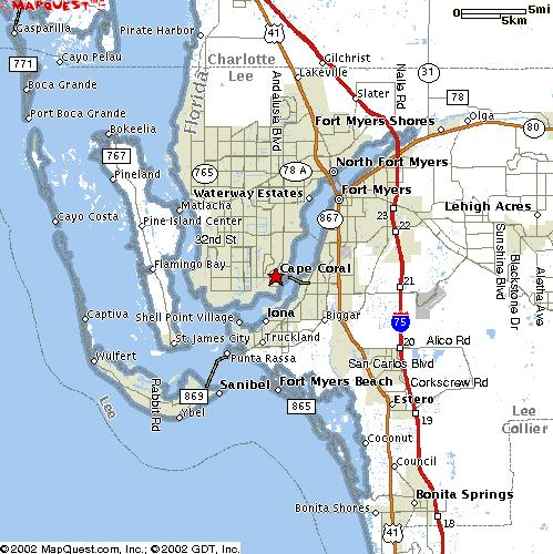 Cape Coral Fishing Maps