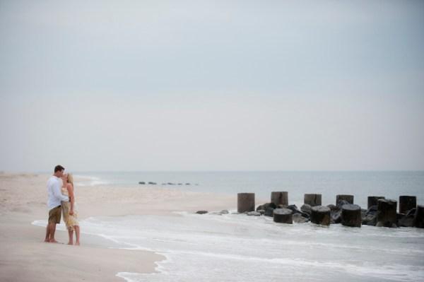 Becky Anthony Ocean Beach Fire Island Engagement