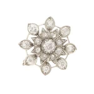 Victorian diamond target brooch/pendant