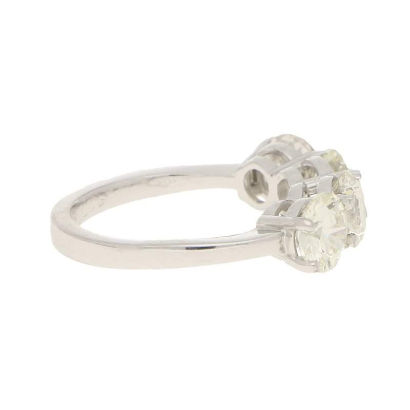 Elegant four stone diamond ring