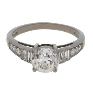 Solitaire diamond engagment ring 1.40 carats