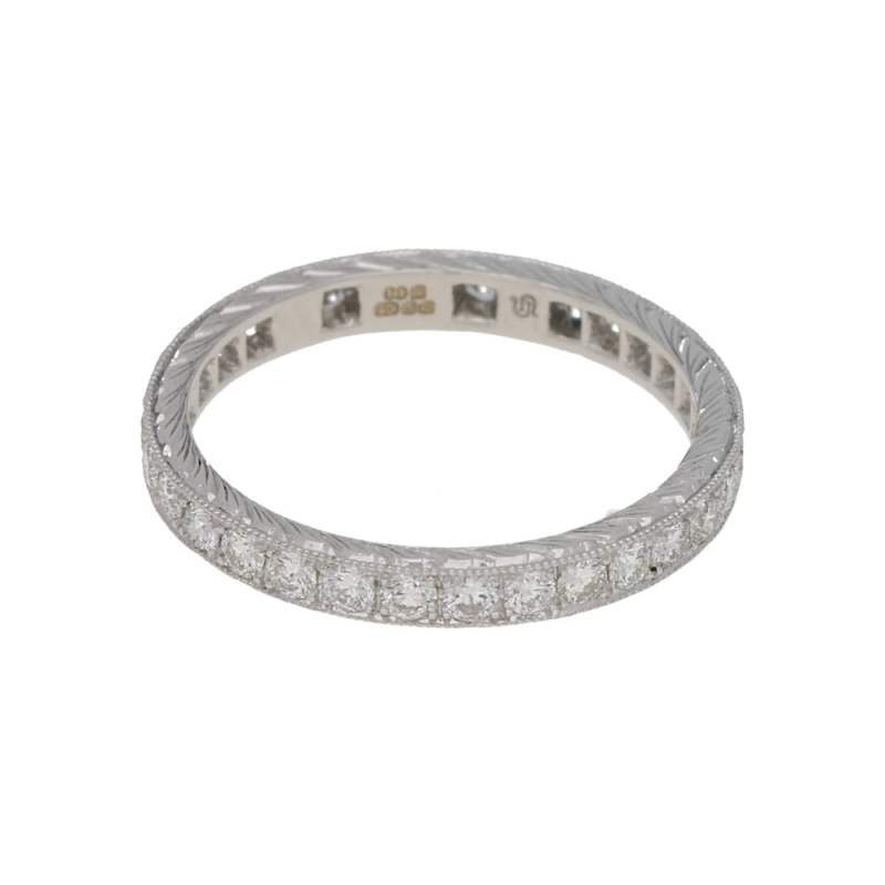 Vintage Style Diamond Full Eternity Ring