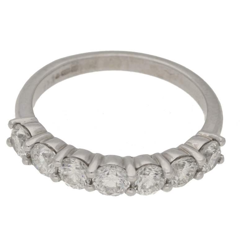 0.85ct diamond seven stone engagement ring