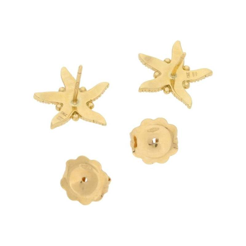Temple St. Clair Gold Starfish shaped earrings