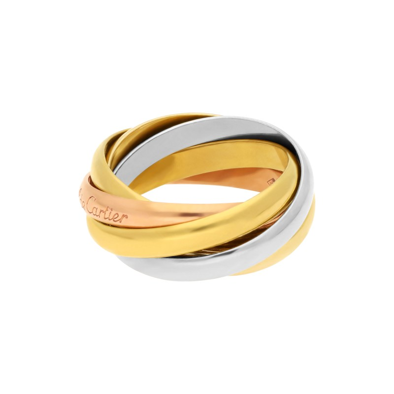 Les Must de Cartier Five Band Trinity Ring 18K Gold
