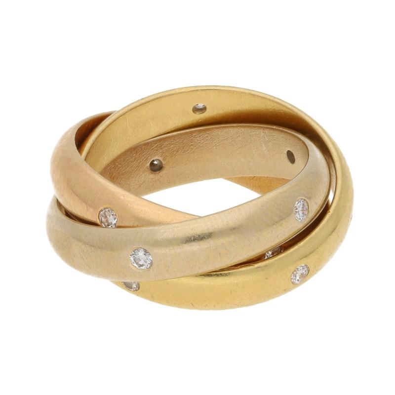 Cartier Diamond Trinity Ring Size 46