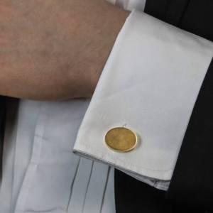 Tiffany & Co. Oval 18K gold cufflinks