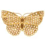 Asprey Butterfly Diamond Brooch