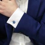 Ladybird link cufflinks in sterling silver