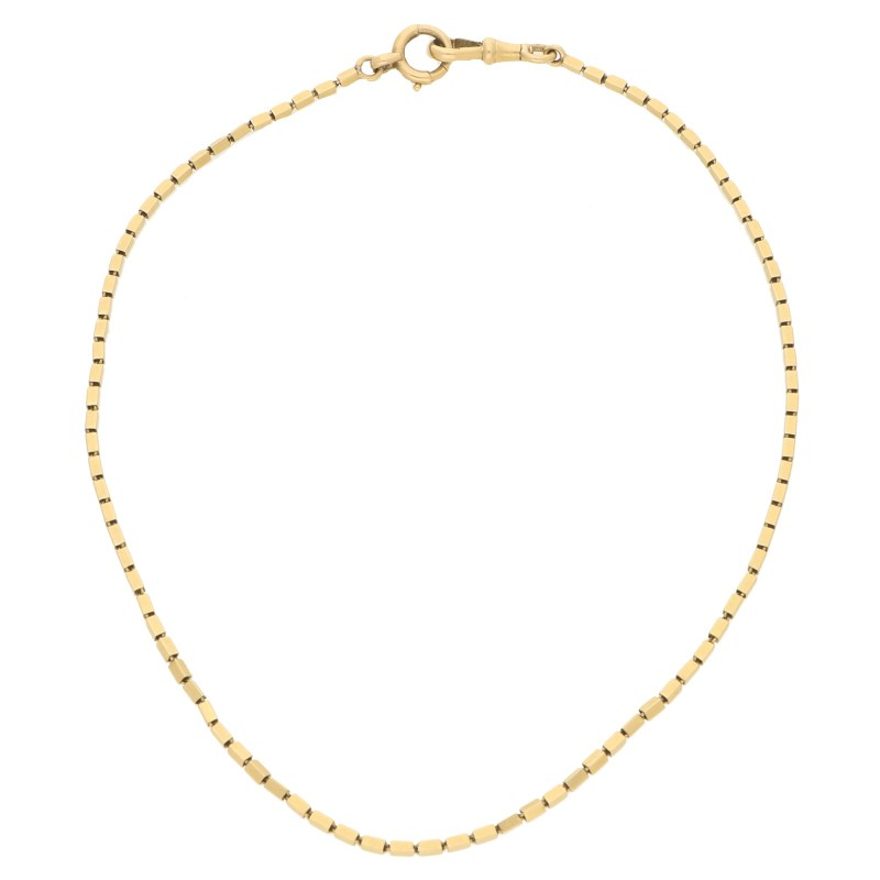 18ct French Vintage Box Link Chain