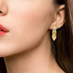 Bulgari Naturalia Marina diamond set earrings