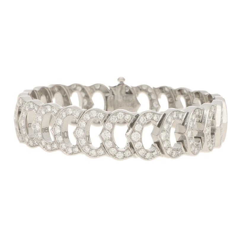 """Cartier diamond set """"C"""" de Cartier bracelet"""