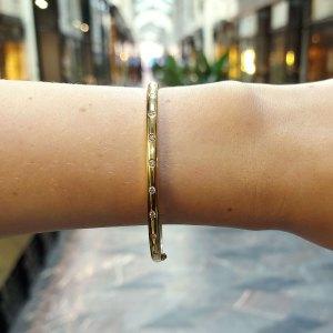 Diamond Set Bangle in 18k Yellow Gold